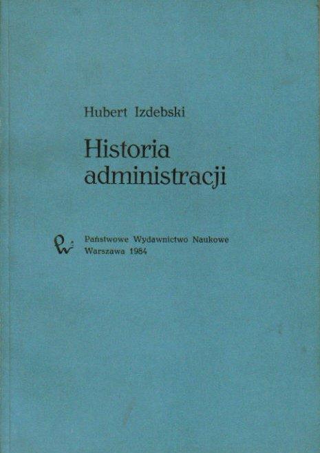 hubert izdebski historia administracji pdf