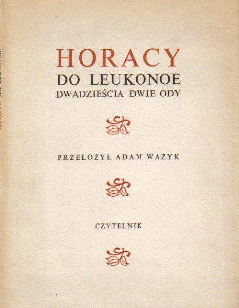 Do Leukonoe Dwadzieścia Dwie Odywyddwujęzyczne Horacy