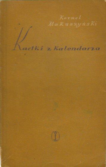 Znalezione obrazy dla zapytania Kornel Makuszyński : Kartki z kalendarza 1956
