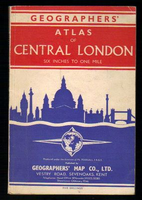Geographers Atlas of Central London Six Inches to One Mile