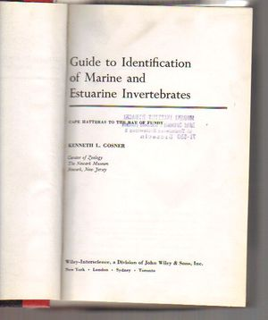 Guide to Identification of Marine and Estuarine Invertebrates