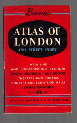Bacon`s atlas of london and street index