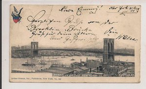 New York..Brooklyn Bridge..1895..z obiegu