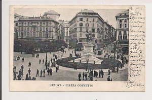 Genova (Genua). Piazza Corvetto..1903..z obiegu